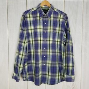 Brooks Brothers Purple Green Plaid Button-down